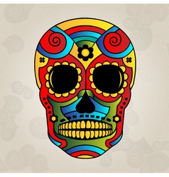 Sugar skull mexico day of dead vector