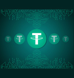 Tether style blockchain background collection vector