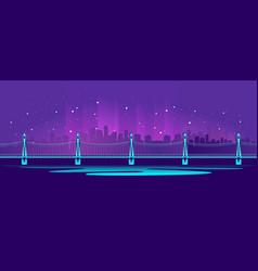 The big neon bridge vector