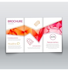tri-fold modern brochure design template vector image