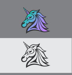 Unicorn logo icon vector