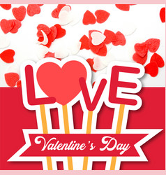 Valentine day love sticks image vector