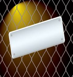 wire fence night vector image