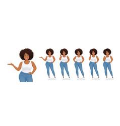 Young big black woman vector