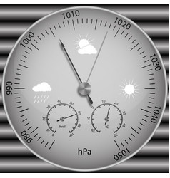barometer for determining atmospheric pressure vector image