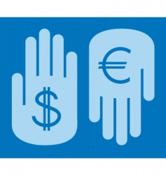 currency conversion vector image vector image