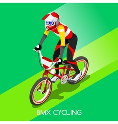 Cycling BMX 2016 Summer Games 3D Isometric vector image