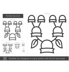 family tree line icon vector image