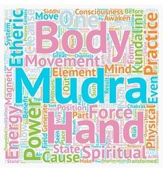 Mudras Hand Symbolism Mudra Power Part text vector image vector image
