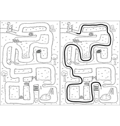 Playground maze vector image vector image
