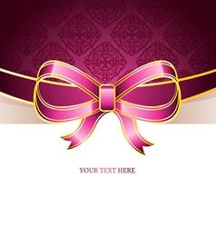ribbon vintage bow vector image vector image