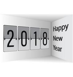 flip board happy new year 2018 3d vector image vector image