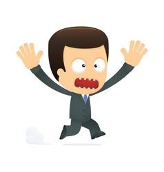funny cartoon boss vector image