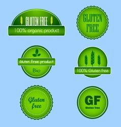 Set of gluten free food labels vector image