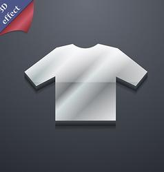 t-shirt icon symbol 3D style Trendy modern design vector image