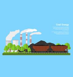 coal energy banner vector image vector image
