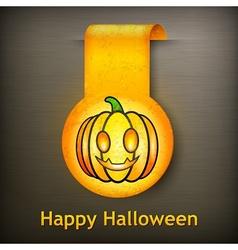 Halloween sticker grimace vector image