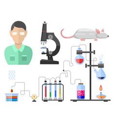 lab symbols test medical laboratory scientific vector image vector image
