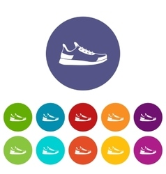 Sneaker set icons vector image