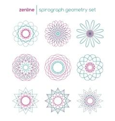 spirograph symbols vector image