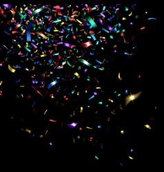 bright colorful confetti vector image vector image