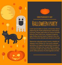 halloween concept letterhead template vector image vector image