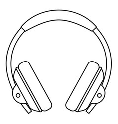 headphone icon outline style vector image vector image