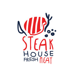 steak house freash meat logo template vintage vector image vector image