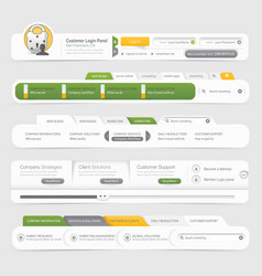 Website template infographic design menu vector image