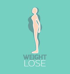 weight lose logo icon vector image