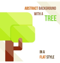 abstract background with a tree vector image