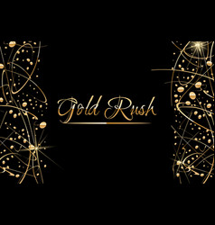Abstract background with gold paint drops vector