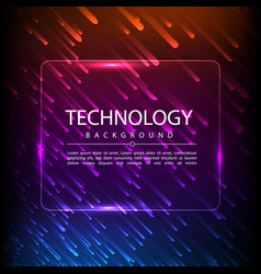 Abstract technology digital hi tech hexagons vector