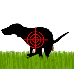 Aim at dogs crapping vector