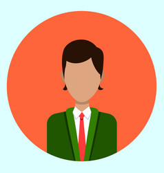 avatar profile icon male faceless user on colorful vector image