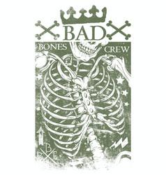 bad bones crew vector image