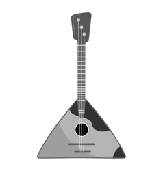 Balalaika icon gray monochrome style vector image