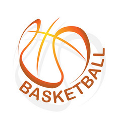 basketball gradient outline symbol background vector image