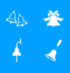 bell icon blue set vector image