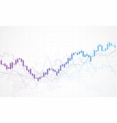 Business candle stick graph chart stock market vector