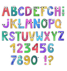 Cartoon alphabet isolated on white background vector