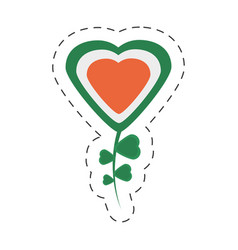 Cartoon heart shamrock decorative st patricks day vector