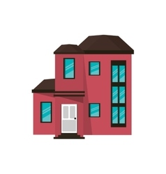 Cartoon house urban expensive vector