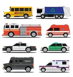 City service cars vector