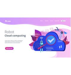 Cloud robotics concept vector