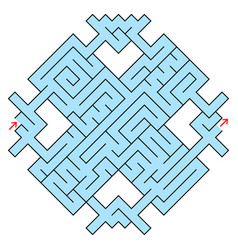 colorful fantastic labyrinth in the form of a vector image