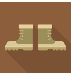 combat military boots with shadow vector image