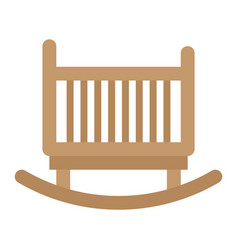 cradle flat icon furniture and interior vector image