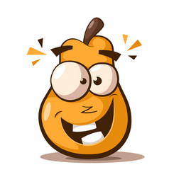 cute funny pear cartoon characters vector image
