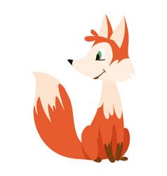 cute happy cartoon fox vector image